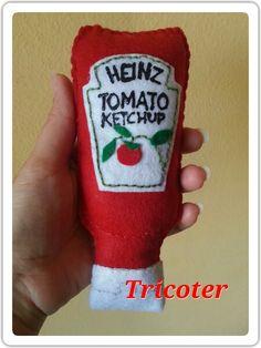 Ketchup Heinz bottle felt www.facebook.com/lemaninelaboriose2