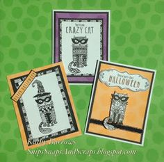 Snips, Snaps, and Scraps: August Stamp of the Month - Purr-fect Halloween