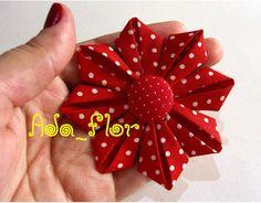 Blog do passo a passo: flores kanzashi (dobradora-tecido)                                                                                                                                                     Mais