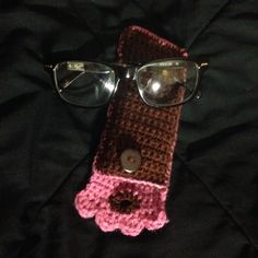 Crocheted glasses case/pouch i made myself.