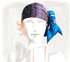 Hermes - Different ways to tie a scarf.