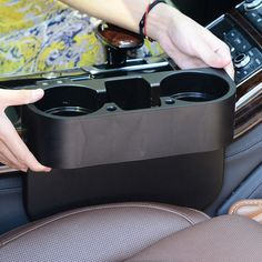 R151-1 Multifuctional Car Cup Holder Waterproof Vehicle Car Seat Seam Cup Mobile Phone Holder Organizer Storage Box Carstyling