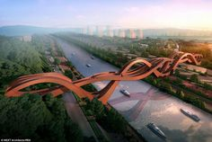 The bridge design that will have you tied up in knots | Designed by Amsterdam-based NEXT architects, it this month won an international competition to design a pedestrian bridge across Meixi Lake in Changsha, China.