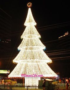 The giant lighted Christmas tree outside Victoria Plaza in Davao City, Philippines