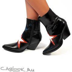 Jeffrey Campbell Gazer черные казаки женские купить в интернет-магазине CabLOOK.ru