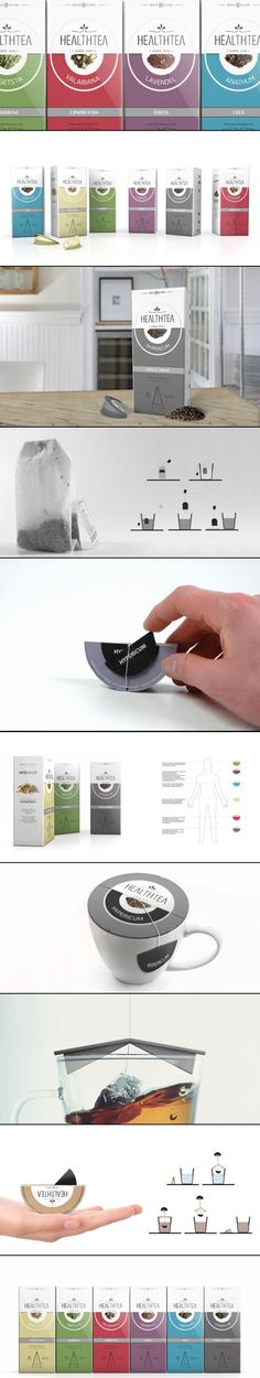 Concept: Health Tea - the Dieline http://www.thedieline.com/blog/2013/3/11/concept-health-tea.html