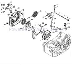 Stihl MS 200 Chainsaw Parts Diagram, Ignition System Ignition System, Chainsaw, Ms, Diagram, Cards, Maps, Playing Cards
