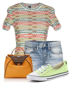 """Untitled #16680"" by nanette-253 ❤ liked on Polyvore featuring M Missoni, Fendi and Converse"