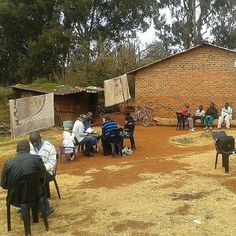 """Brothers and sisters conducting Bible Studies with Malawian and Zimbabwean migrant workers in South Africa. Sometimes you do not have to travel to another country to find """"people of all sorts"""" (1 Tim. 2:4). These brothers has been diligently studying with interested ones for 2 years, travelling around 20 kms to a rural area outside Pretoria on a Sunday. This is one of a few groups that are visited like this, making for a very long, but rewarding Sunday!"""