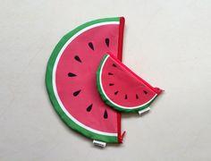 Watermelon sunmer time zipper pouch set Big Clutch by efratul
