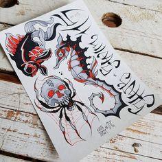 Flash art by @rustemhorzum at @tattoostudio115 Bergen, Norway
