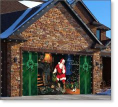 Garage Door Decor Santa's Secret (2car)