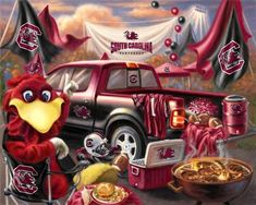 South Carolina Gamecocks Tailgate Fleece Panel