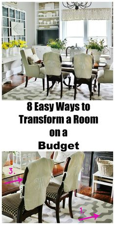 Easy ways to transform a room with easy projects and shopping the house.  thistlewoodfarms.com