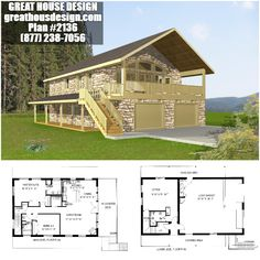 We're a house plan design and drafting service that specializes in various types of houseplans, including garage design and ICF house plans. New House Plans, Small House Plans, House Floor Plans, Garage Apartment Plans, Garage Apartments, Garage Plans, Garage Ideas, Metal Building Homes, Building A House