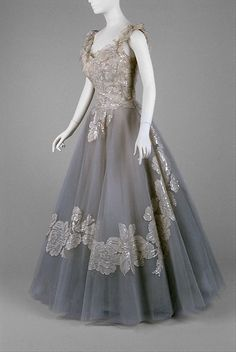 ~Silk and nylon evening dress, 1959.~