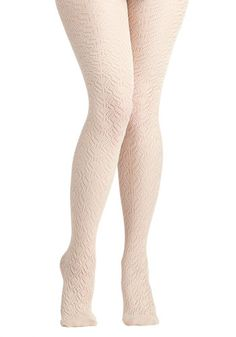For chilly days, Pleasant Feather We're Having Tights @ Modcloth #1000MileDreamOutfit
