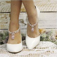 55db10da5e20a3 CRYSTAL wedding ankle bracelet - pink. Foot BraceletAnkle BraceletsJewelry  BraceletsBarefoot Sandals ...
