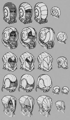 How To Draw Comics Manga Concept Art 22 Trendy Ideas Best Picture For Character Design references For Your Taste You Character Design References, Character Art, Cyberpunk, Arte Robot, Armor Concept, Robot Concept Art, Concept Draw, Comic Drawing, Helmet Design
