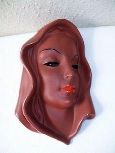 Goldscheider Wandmaske - Frauenkopf Modell 7831 in Wandmasken | eBay