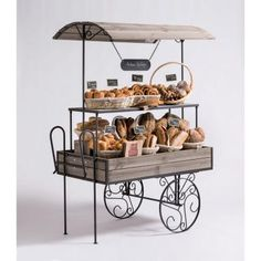Carrito 120 x 70 cm gris Bakery Shop Interior, Bakery Shop Design, Cafe Design, Design Design, Ulsan, Patisserie Design, Coffee Carts, Coffee Shop, Food Cart Design