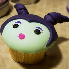 Magnificient Maleficent Cupcakes From Animated Cupcakes