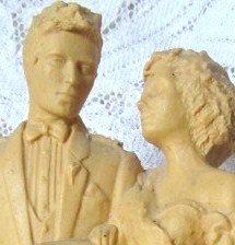 Vintage Scottish Bride And Groom Wedding Cake by AuntSuesVintage, $29.99