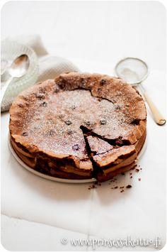 Prinsessakeittiö: Jauhoton suklaakakku Flourless Chocolate Cakes, Tiramisu, Camembert Cheese, Gluten Free, Baking, Ethnic Recipes, Food, Desserts, Diy