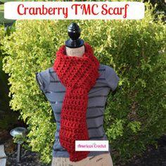 Cranberry TMC Scarf ~ American Crochet