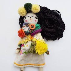 Just SOLD😍😍😍 Thank you so much 💛 check it out💜 link bio in profil 💙 🎆 🎄 #perfectgift #fridakahlo #thedollsunique #artdoll #clothdollartist #folkcreative #folkygirls #bohochic #fridakahlodoll #fridalove #tekstildoll #clothdoll #creativityfound #christmasgift
