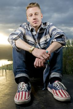 Macklemore- I love him so much! He's a ginger, he's from Seattle (West Coast!) and he's very talented.