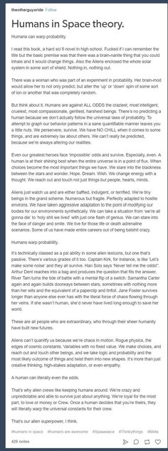 Humans and aliens. Superpower- warp probability and consistences This is awesome!