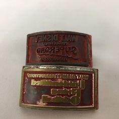 Walt Disney Metal Stamp Lot of 2 Superdad and Unidentified Flying Oddball RARE #WaltDisney