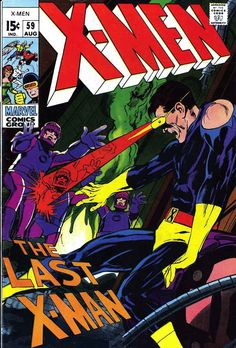X-Men v1 #59 Marvel Comic Book Cover art by Neal Adams