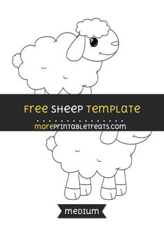 Free Sheep Template - Medium Templates Printable Free, Free Printables, Sheep Template, Sheep Crafts, Baby Theme, Themes Free, Baby Shower Printables, Project Yourself, Fancy Dress