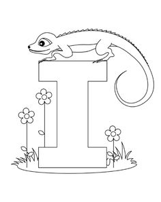 Printable alphabet worksheets letter i for Iguana for kids.free online animal Print out alphabet worksheets letter i for Iguana for preschool Letter A Coloring Pages, Coloring Letters, Santa Coloring Pages, Unicorn Coloring Pages, Animal Coloring Pages, Printable Coloring Pages, Coloring Pages For Kids, Coloring Books, Coloring Sheets
