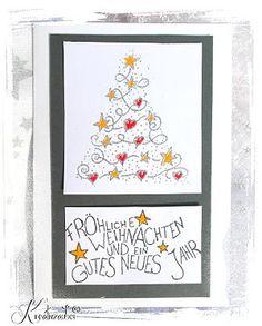 Motivstempel www.kreativzauber.de Weihnachtskarten basteln