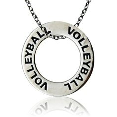 Volleyball Message Ring Necklace. $12.99