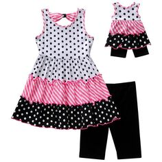 Dollie Me Girl 4-14 and Doll Matching Tiered Tunic Shorts Outfit American Girl   eBay