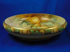 "Rosenthal Donatello Bavaria Arts & Crafts Fruit Motif Centerpiece Bowl (Signed ""Stiles""/c.1907-1940)"