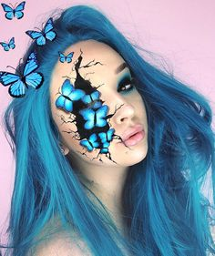 Are you ready for the idea of Halloween makeup looks? let's take a look at the best Halloween make-up we have. All Halloween costumes are included. Cool Halloween Makeup, Halloween Makeup Looks, Halloween Make Up, Scary Halloween, Clown Makeup, Makeup Art, Eye Makeup, Makeup Ideas, Cool Makeup Looks