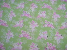 Easter Padded Table Runner - Bunnies on Green - Sweet print for Spring/Easter - Makes a great gift too.