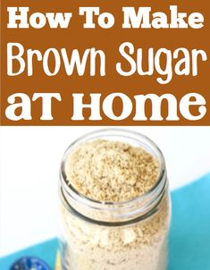 How to make Brown Sugar Soft Again With Molasses! Baking recipes and easy desserts that use this 2 ingredient trick are so yummy! 4th Of July Desserts, Spring Desserts, Thanksgiving Desserts, Christmas Desserts, Easy Desserts, Holiday Treats, Make Brown Sugar, How To Make Brown, Baking For Beginners