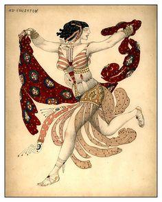 Costume de Cléopâtre pour Ida Rubinstein, 1909 (via : wikipedia )