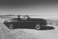 """43 Likes, 1 Comments - Kimi Lopes (@kimilopes) on Instagram: """"On the road to perdition"""" 1964 mgb"""