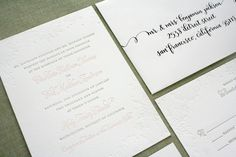 Custom and Letterpress Wedding Invitations - Parrot Design Studio | Oh So Beautiful Paper