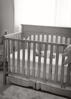 Chalk+paint+crib | ... Chalk Paint | Refinished Crib | Painted · Painted  CribsPaint Techniques FurnitureBaby ...