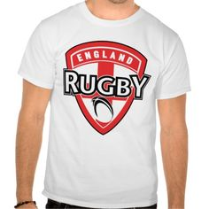 """rugby ball shield england cross flag shirts. illustration of an icon showing a shield and rugby ball with words """"rugby england"""" and cross of saint george. #illustration   #rugbyball #rwc #rwc2015 #rugbyworldcup"""