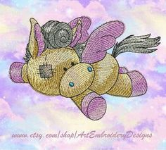 "Pegasus_OldToy - Machine Embroidery Designs Set  for a Babies and Children of a series ""Old Toy"""
