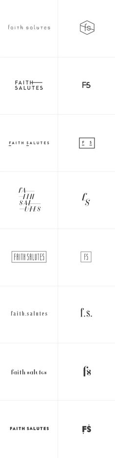 A small glimpse into the future of Faith Salutes logo design and branding project. #riotwork #workinprogress #logoprocess
